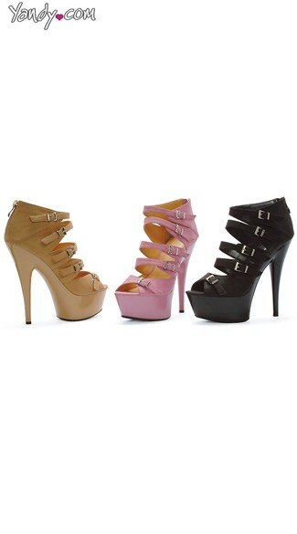 Strappy Stiletto Booties - as shown