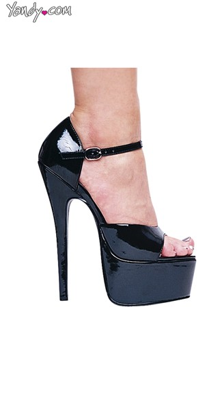 "6.5"" Stiletto Heel Sandals, Peep Toe Platform Sandals"