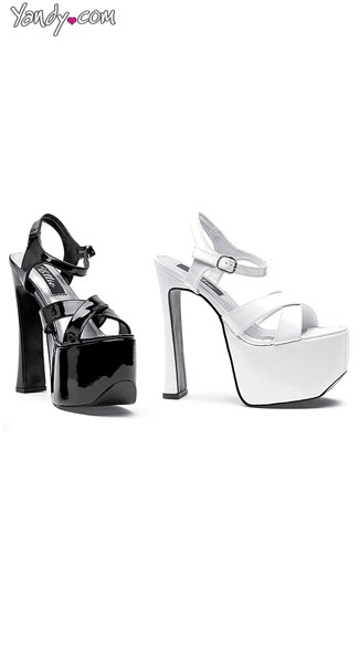 "6.5"" Heel Thick Strap Sandals, Chunky Heel Sandals"