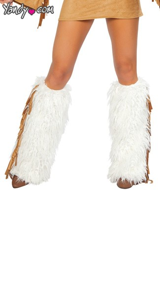 Hippie Chic Legwarmers - Gold/White