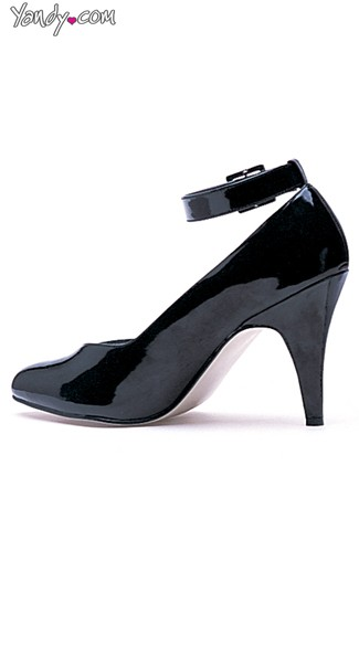 "4"" Heel Pumps with Ankle Strap, 4 Inch Pumps"