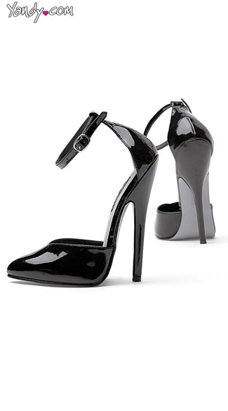 "6"" High Heel Pump With Thin Ankle Strap, Toe Pump with Ankle Strap"