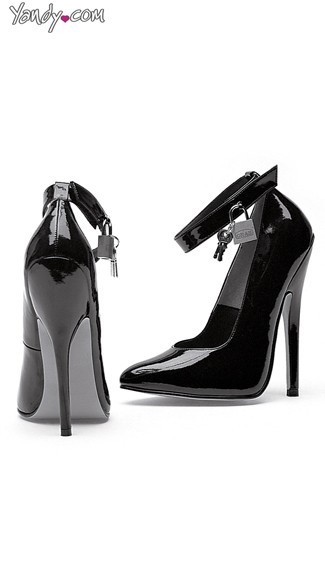 "6"" Heel Fetish Pump With Lock and Key, High Heels with Lock and Key - Yandy.com"