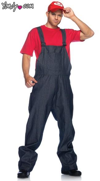 mens red plumber costume mens plumber costume mens mario costume
