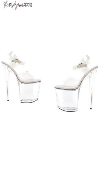 "8"" Heel Sandal with Large Platform, High Platform Sandals - Yandy.com"