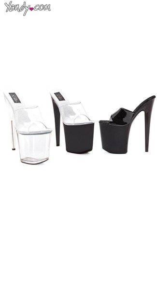 "8"" Heel Platform Sandals, High Platform Shoes - Yandy.com"