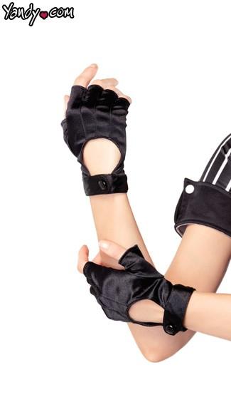 Fingerless Motorcycle Gloves - Black