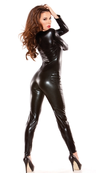 Sexy Black Catsuit - Black