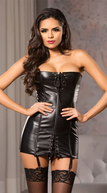 071c99d7a49 Lace Me Up Corset Dress - Black ...