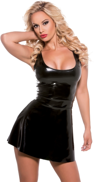 Flared Tank Dress - Black
