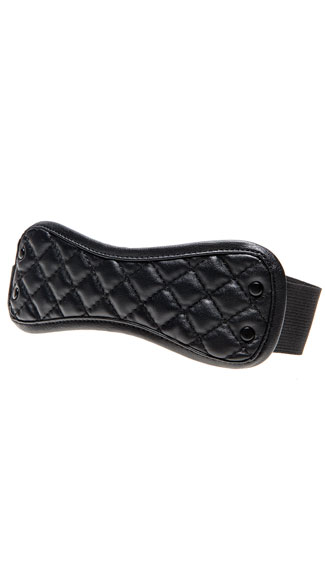 Quilted Eye Mask - Black