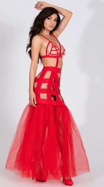 I'm Your Fantasy Mermaid Dress - Red