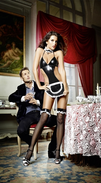 At Your Service French Maid Costume - as shown