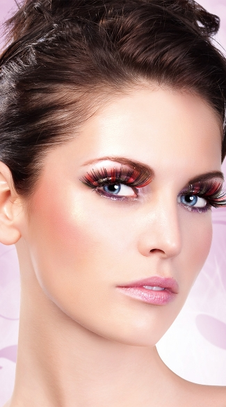 Multi Color Glitter Eyelashes Multi Colored False