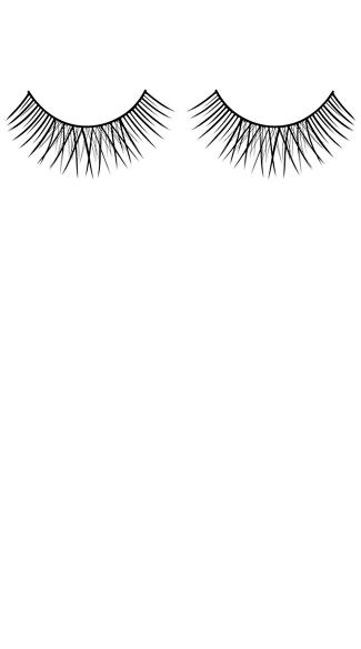 Glamorous Black Deluxe Eyelashes - Black