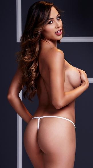 Lace-Up Panty - White