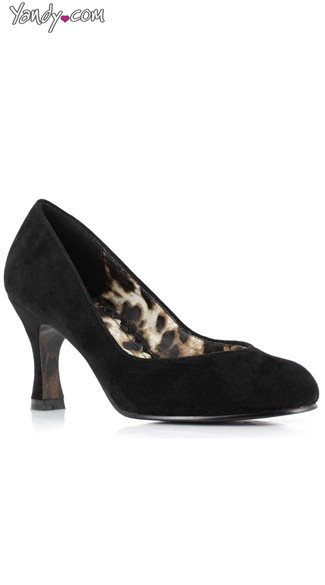 Sexy Secretary Pump - Black Velvet