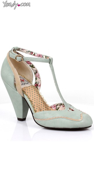 T-Strap Mary Jane Heel - Mint