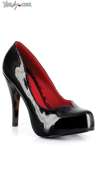"4"" Vixen Patent Pump, Black Patent Pumps, Evening Shoes For Women"