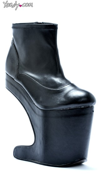 Black Ankle Anti Gravity Wedge Boot - as shown