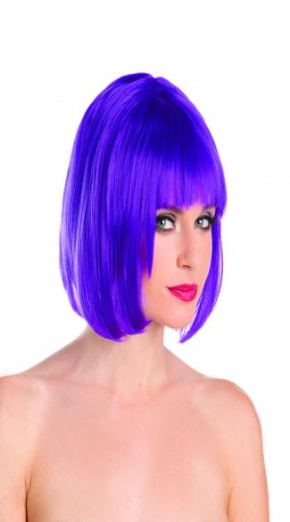 Foxy Babe Bob Wig - Purple