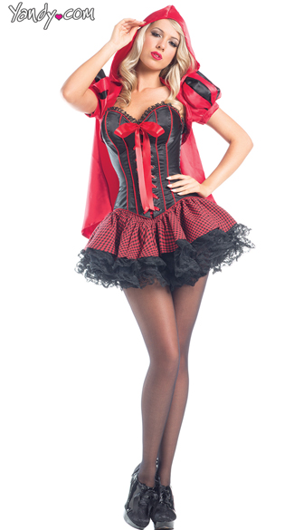 Sassy Riding Hood Costume - As Shown