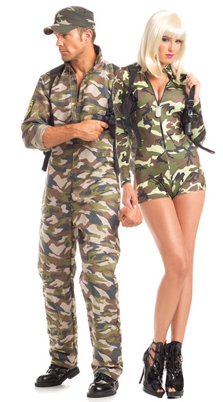 Commanding Camo Couples Costume  sc 1 st  Yandy & Commanding Camo Couples Costume Commander Cutie Costume Sexy Army ...