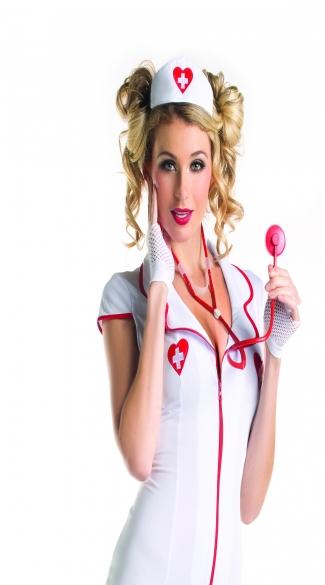 Nurse Hat And Stethoscope - White