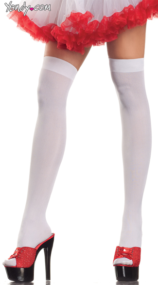 Angelic Thigh High Stockings - White