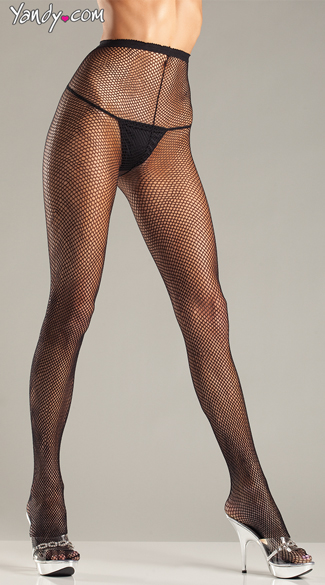 Basic Fishnet Pantyhose - Black