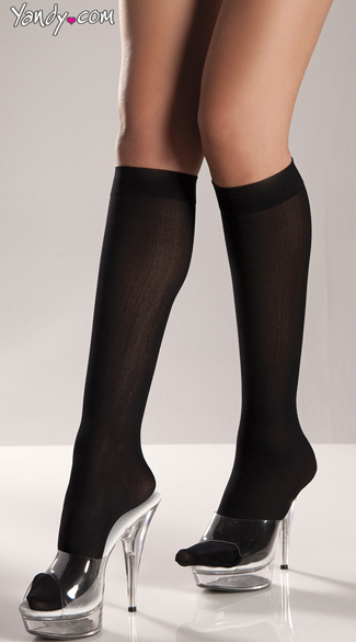 Classic Knee High Stockings - Black