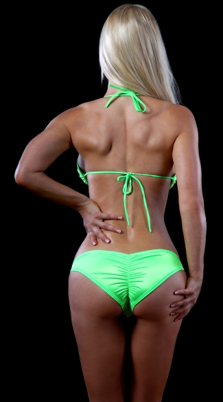 Neon Tri Top and Scrunch Back Panty - as shown