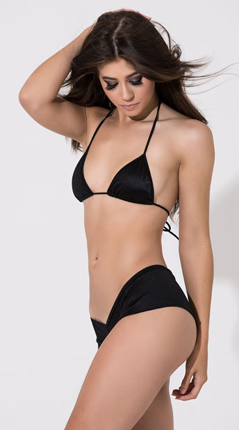 Scrunch Back Micro Short - Black