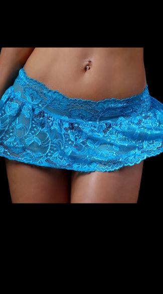 Lace Flirty Skirt - Turquoise