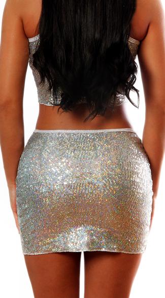 New Year's Mini Skirt - Silver