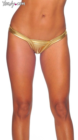 Sexy Metallic V Thong, Metallic Thong, Shiny Thong, Silver Thong, Gold Thong