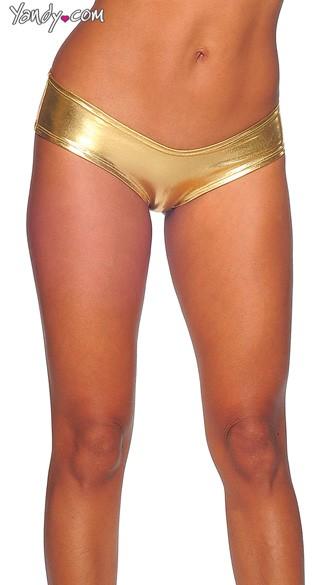 Metallic Micro Boy Shorts - Gold