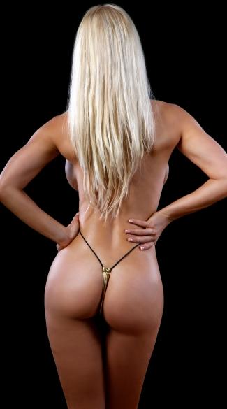 Foil Teeny Weeny Monokini - Gold