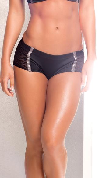 Sheer Diva Shorts - As Shown