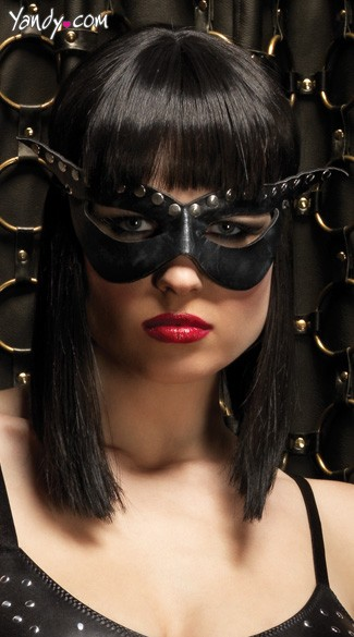 Bad Girl Mask, Black Mask, Lingerie Mask-2856