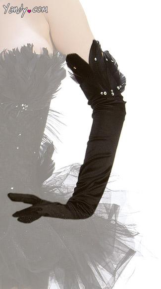 Black Swan Gloves - As Shown