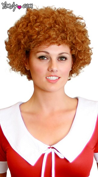 Curly Red Hair Wig - Red