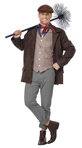 Men's Chimney Sweep Costume - Brown