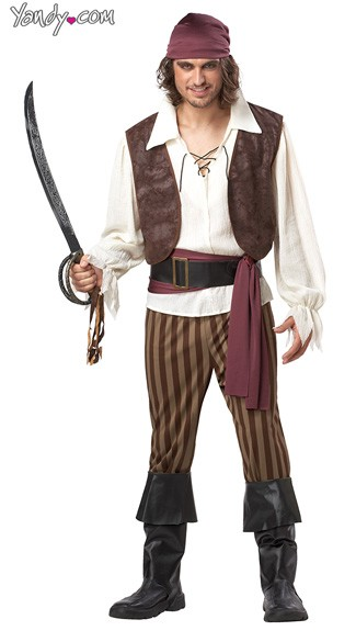 Rogue Pirate Costume, Deluxe Mens Pirate Costume, Sexy Mens Pirate Costume