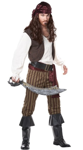 SHARE THE LOVE  sc 1 st  Yandy & Rogue Pirate Costume Deluxe Mens Pirate Costume Sexy Mens Pirate ...