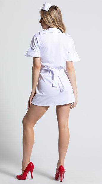 Heart Stopping Hottie Nurse Costume - White
