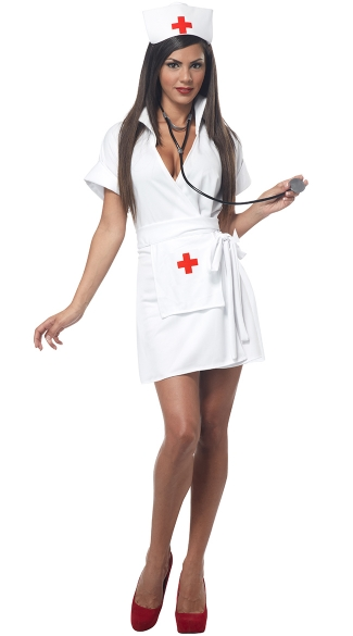 Fashion Nurse Costume, Adult Nurse Halloween Costume