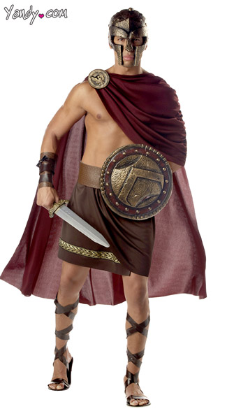 Mens Spartan Warrior Costume, Spartan Costume, Greek Warrior Costume