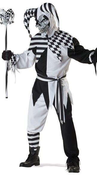 Men's Nobody's Fool Costume - Black/White