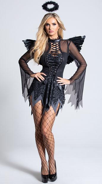Fallen Angel Costume - Black